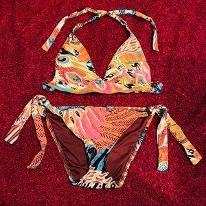 Vintage Lucky Brand Bohemian Bikini Small